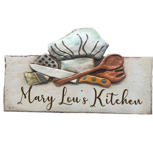 Kitchen Chef's Hat Custom Sign