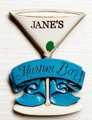 Martini Bar Sign personalized #325DPSM