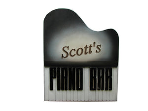 Music Wall Decor Personalized Piano Bar Sign