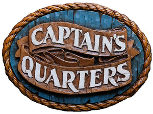 Nautical Decor Captains Quarters Sign
