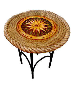 Nautical Decor Compass Rose Accent Table  item 1209A