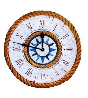 Nautical Decor Compass Rose Clock  item 313