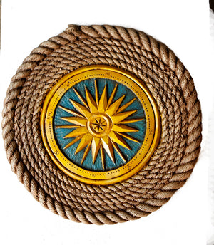 Nautical Decor Compass Rose Wall Decor     ITEM 1209B