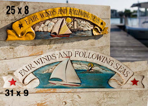 Nautical Decor Door Topper Fair Winds and Following Seas, item 367