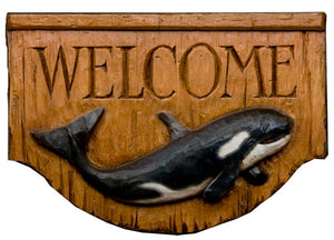 Nautical Decor Orca Whale Welcome sign