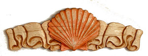 Nautical Decor Shell Wall Plaque Door Topper