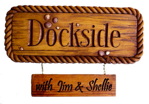 Nautical Decor Personalized Dock Sign