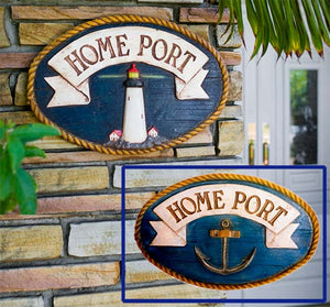 Nautical Decor Large Wall Sign Home Port  item 376A