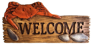 Crab Nautical Decor Welcome Sign  item#621