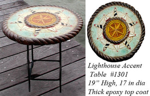 Nautical Lighthouse Decor Accent Table