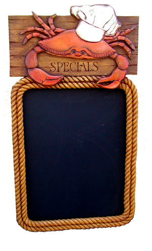 Nautical Restaurant Decor Crab Chalkboard