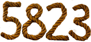 Nautical Rope house numbers ITEM 969A