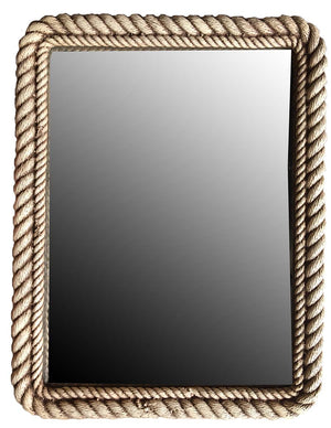 Nautical Rope Mirror with Driftwood finish