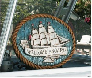 Nautical Wall Decor Welcome Aboard Sign