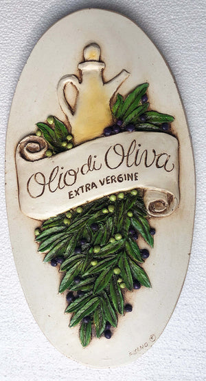 Tuscan Rustic Olive Oil wall plaque  item 673