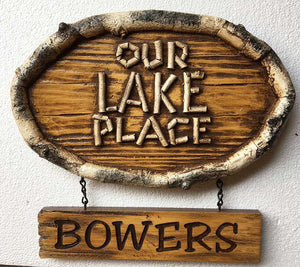 Our Lake Place Personalized Welcome Sign