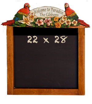Parrot Tropical Decor Chalkboard