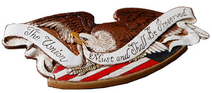 Patriotic Eagle Wall Decor Sign