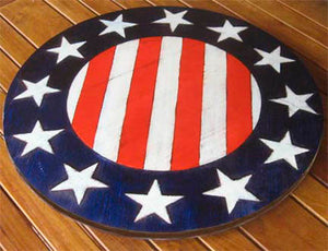 Patriotic flag Lazy Susan