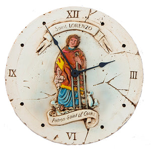 Patron Saint of Cooking Wall Clock