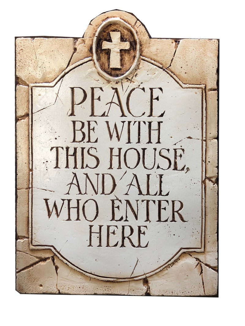 May This House Be a Place of Peace Plaque With Mirrors Gift MTW0924
