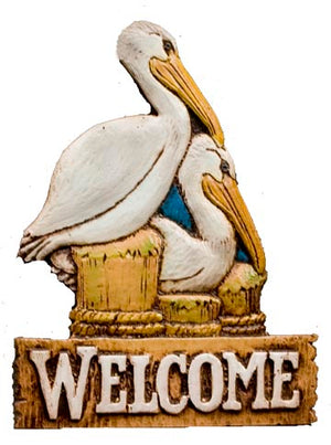 Pelican Nautical  Decor Welcome Sign plaque  364A