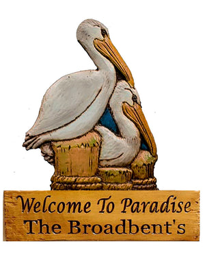 Pelicans Personalized Name or Address Sign