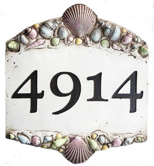 Personalized Beach Address Sign with Shells