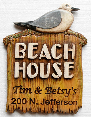 Personalized Beach House Address Sign