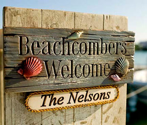 Personalized Beach House Welcome sign