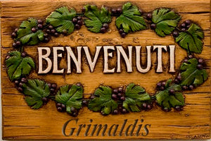 Personalized Benvenuti Italian Welcome sign