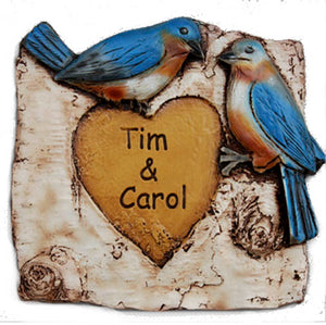 Personalized Blue Birds Love Sign