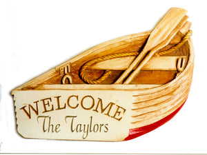 Personalized Boat Welcome Sign