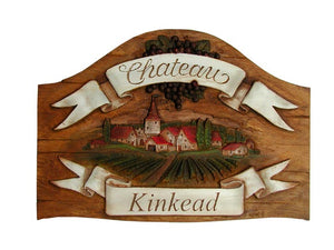 Personalized French Chateau Sign  #595B