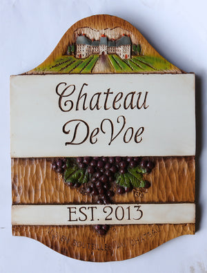 Personalized Chateau Sign for Your Home