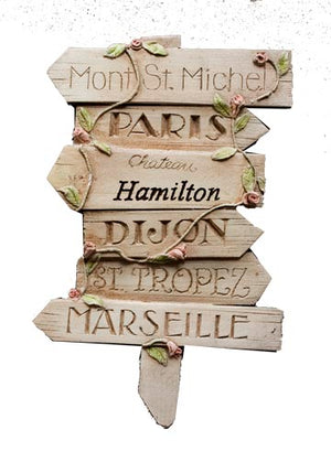 Personalized French Wall Decor Road Sign item 777B