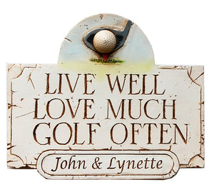 Personalized Golf Sign