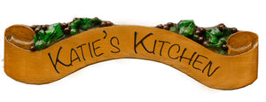 Personalized Grape Wall Sign for your kitchen