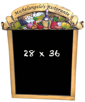 Personalized Italian Restaurant Chalkboard Menu Board