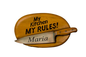 Personalized Kitchen Sign My Kitchen My Rules    item 698B