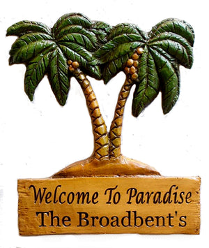 Personalized Palm Tree Tropical House Sign   item 500P