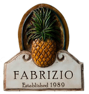 Personalized Pineapple Wall Plaque