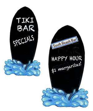 Personalized Surfboard Chalkboard Menu Board