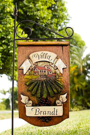 Personalized Welcome Italian Villa Yard Sign