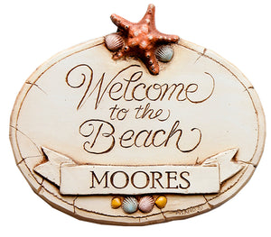 Personalized Welcome to the Beach Sign   item 316A