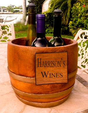 Personalized Wine Decor Wine Barrel Chiller