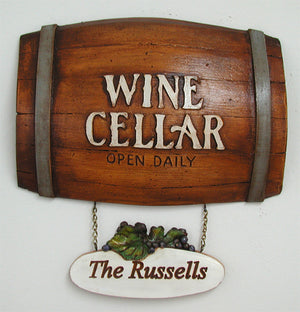 Personalized Wine Barrel sign  # 574AP