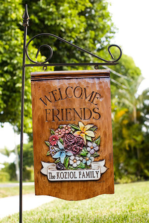 Personalized Flower Yard Sign