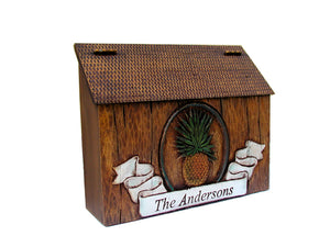 Pineapple Country Style Personalized Mailbox  item 727A