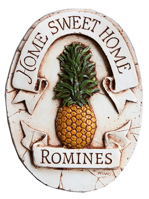 Pineapple Decor Home Sweet Home Personalized sign